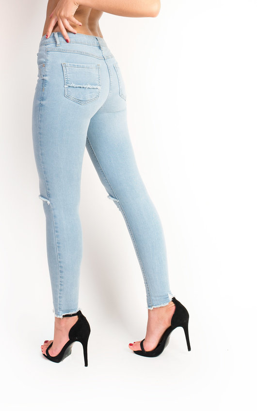 8e73c184d3 HOVER ITEM TO ZOOM. Josie Mid Rise Ripped Skinny Jeans Thumbnail