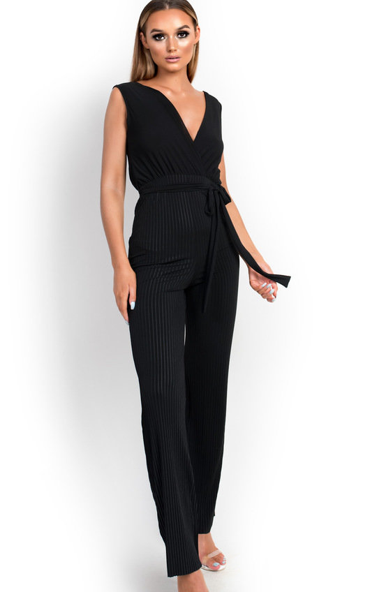 fa7d886191a1 Kasia Stripe Belted Stretch Jumpsuit. HOVER ITEM TO ZOOM