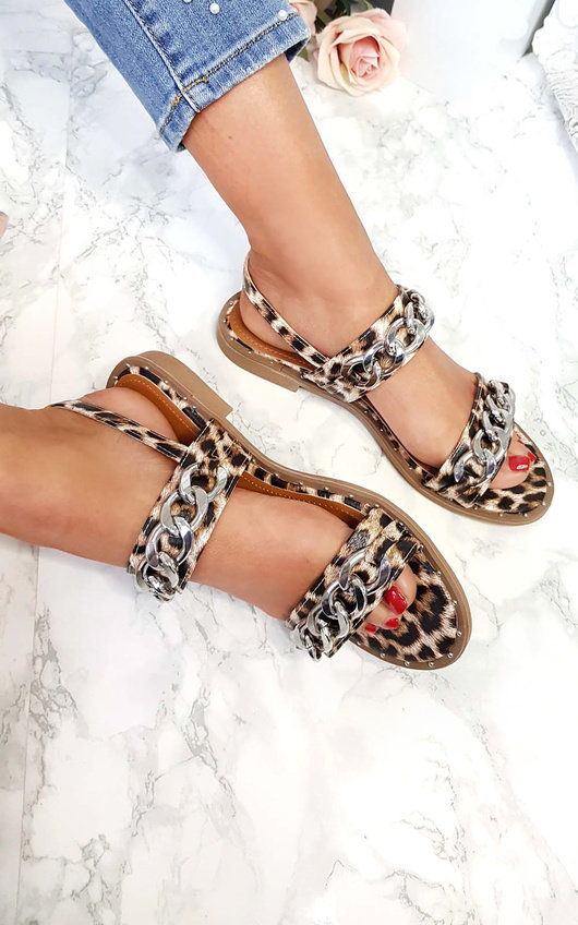 Katerina Double Chain Strap Sandals in