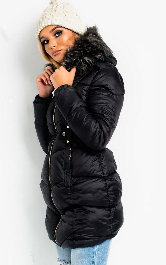 d8e84d989 Katy Long-Lined Faux Fur Hood Puffer Jacket