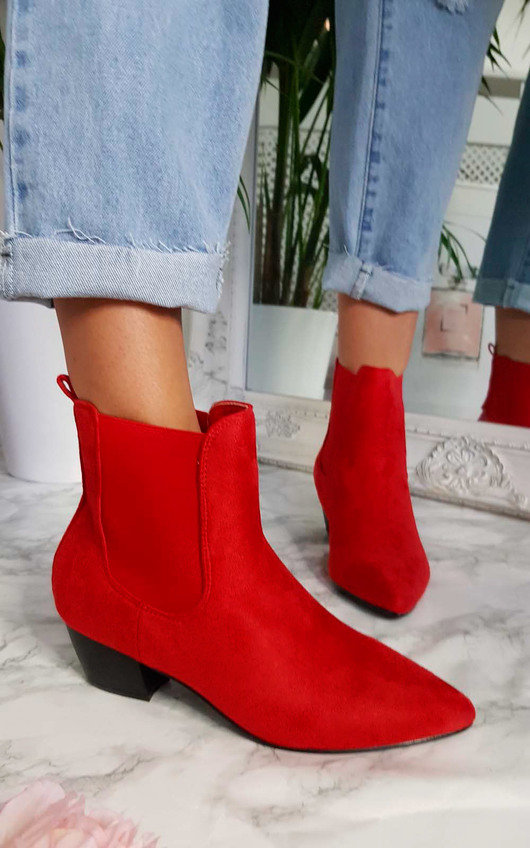 in stock good selling special sales Laura Faux Suede Ankle Boots at ikrush