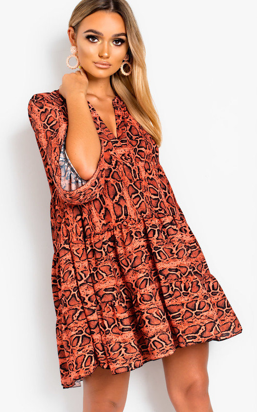 Layla Printed Smock Dress. HOVER ITEM TO ZOOM bcd806a02
