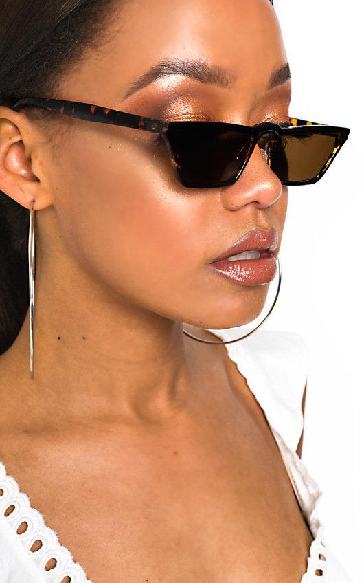 706ad8037c4b Leigh Tortoiseshell Square Cat Eye Sunglasses in Assorted | ikrush