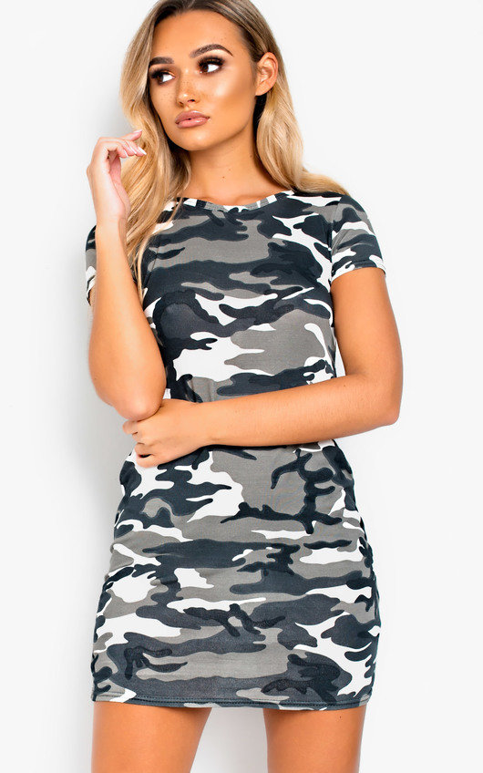 Lelli Camo Bodycon T-Shirt Dress. HOVER ITEM TO ZOOM af9222091