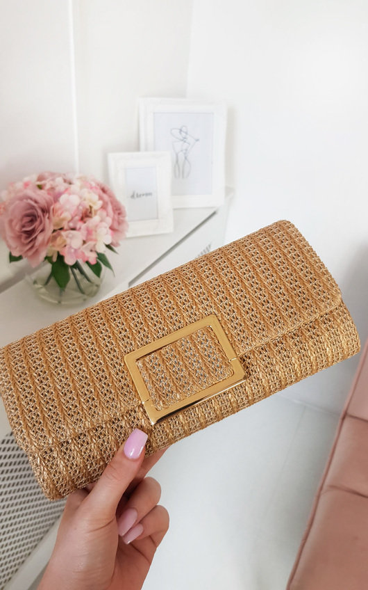 outstanding features footwear professional design Leoni Raffia Clutch Bag at ikrush