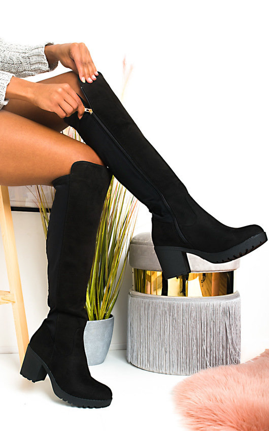 online retailer 55706 40b6e Lilly Faux Suede Knee High Boots