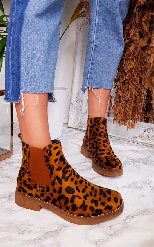 f4578065413 Lisa Leopard Print Ankle Boots in Leopard