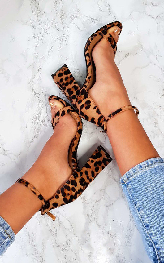 5070546e65a Lola Barely There Block Heels in Leopard