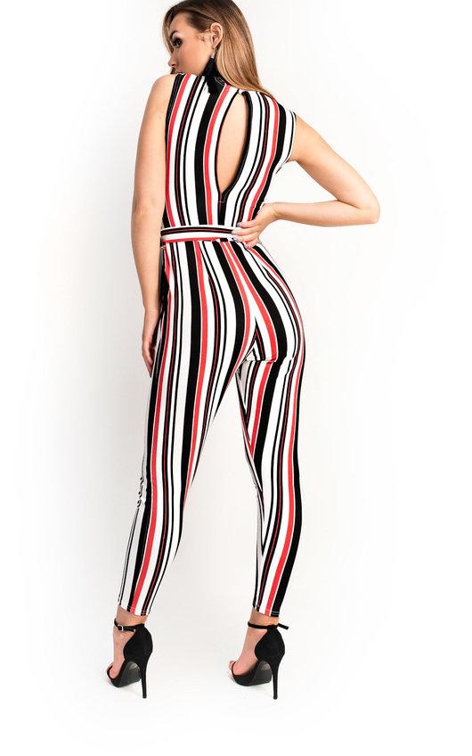 0b2690a6746 Lorn Stripe Tie Waist Jumpsuit Thumbnail