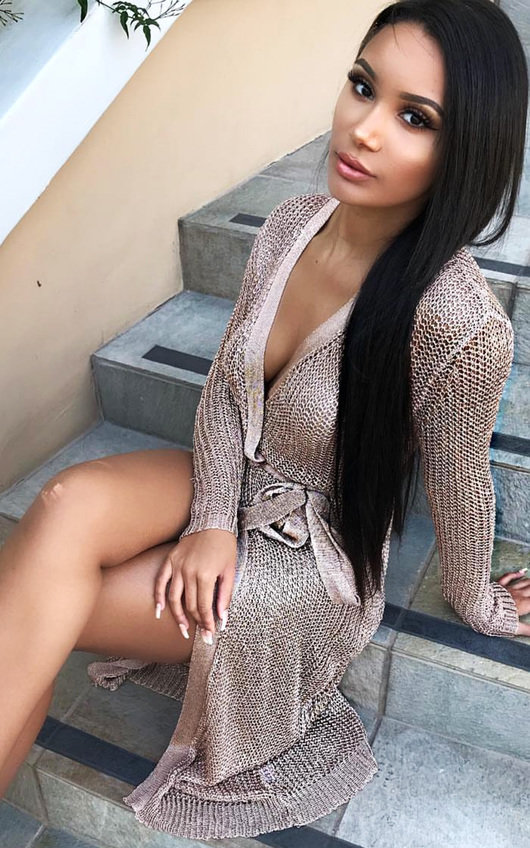 ac59cb80f3 Lorna Metallic Knit Dress in Rose gold