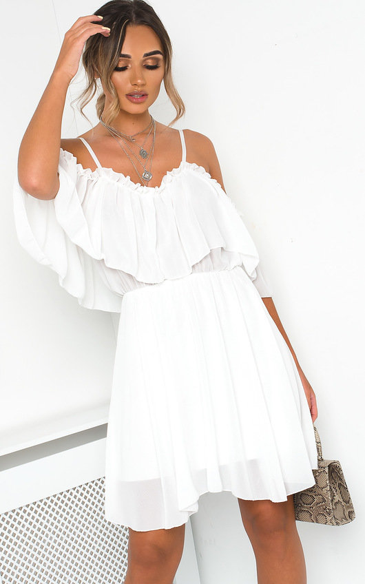 14c0d575f32 HOVER ITEM TO ZOOM. Lyla Off Shoulder Frill Playsuit Thumbnail