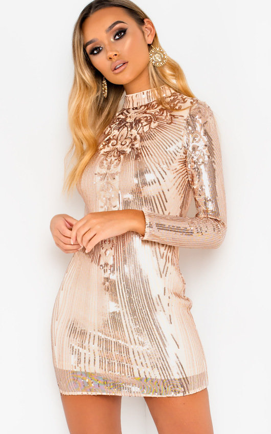 314debc20b Lyra Sequin Embellished Mini Dress. HOVER ITEM TO ZOOM