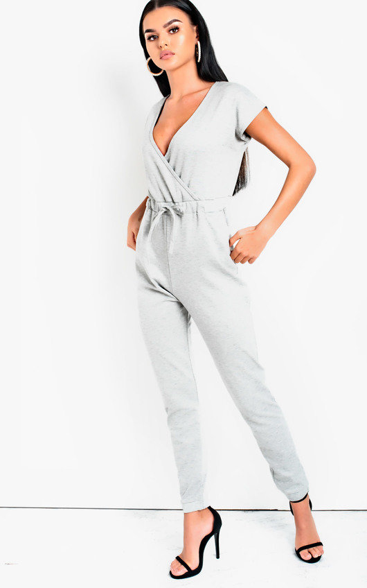ea40f9cb8f3 Marcie One Piece Lounge Jumpsuit in Grey