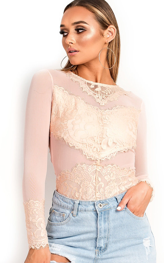 679998874f Mariana Long Sleeved Lace Bodysuit. HOVER ITEM TO ZOOM