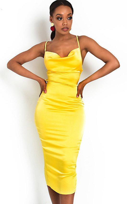653f6f0dd6 Monikh Satin Backless Midi Dress. HOVER ITEM TO ZOOM