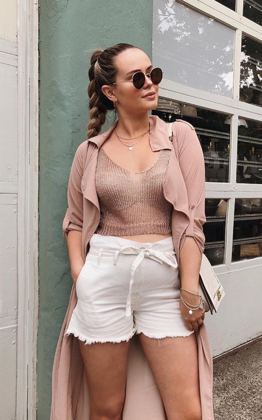 8e0ed34f81955e Nina Metallic Knitted Tie Up Crop Top. HOVER ITEM TO ZOOM