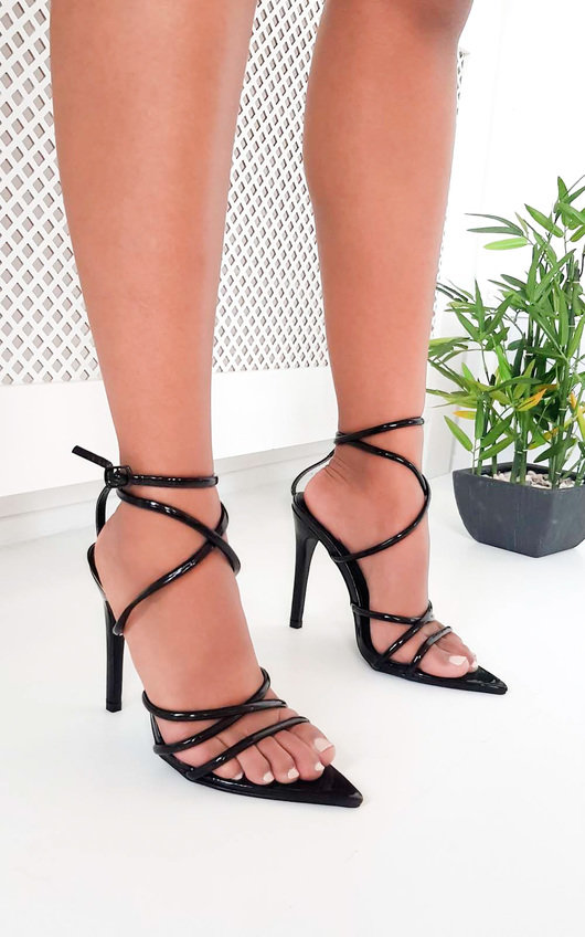018e4074f93 Nora Strappy Pointed High Heels in Black