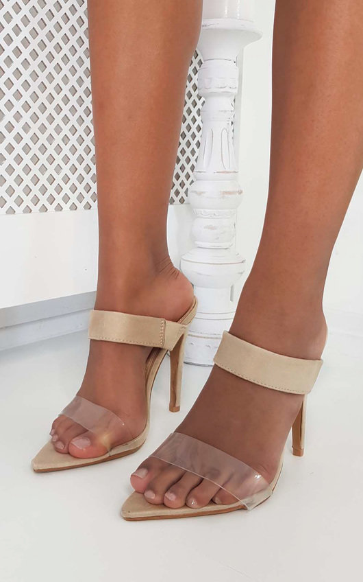 7b76126c3c3 Nyla Barely There Perspex Heels at ikrush