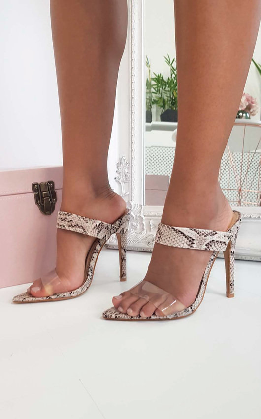 ab8a45d5ead Nyla Barely There Perspex Heels at ikrush