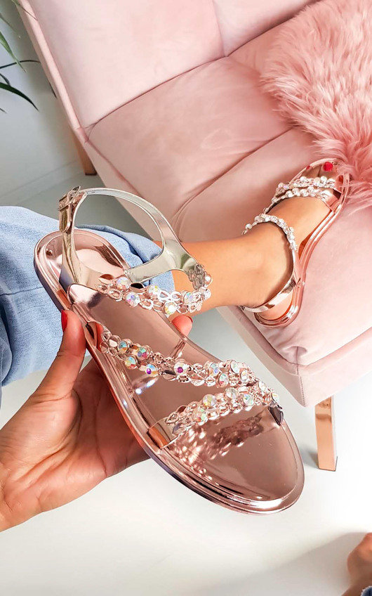 c414b6c77 Pia Metallic Diamante Strappy Sandals. HOVER ITEM TO ZOOM