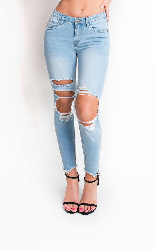 ff30385a1a574d Ripped Skinny Jeans | Distressed Jeans Womens | iKrush