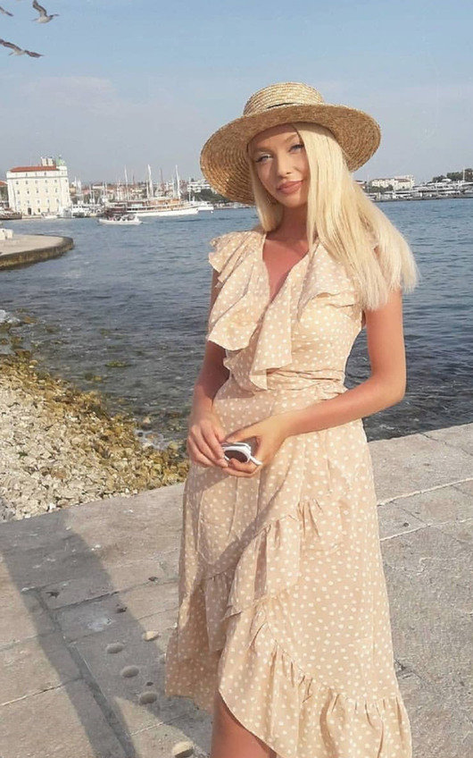 IKRUSH Womens Mindy Polka Dot Wrap Midi Dress