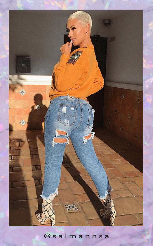 d5b27ea2e5 Roxi Ripped Back Pocket Crop Jeans. HOVER ITEM TO ZOOM