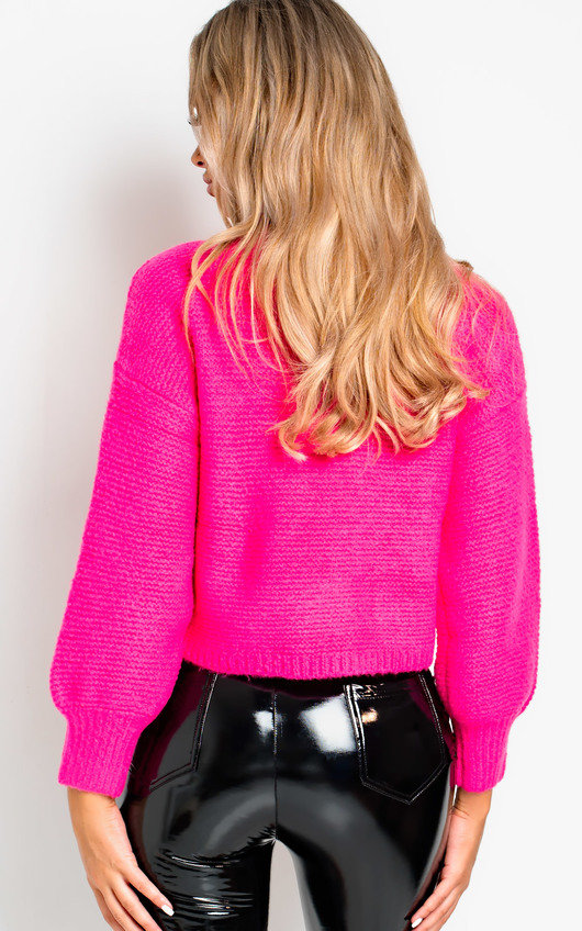 380461fb12080e Sage Chunky Knitted Jumper in Pink | ikrush