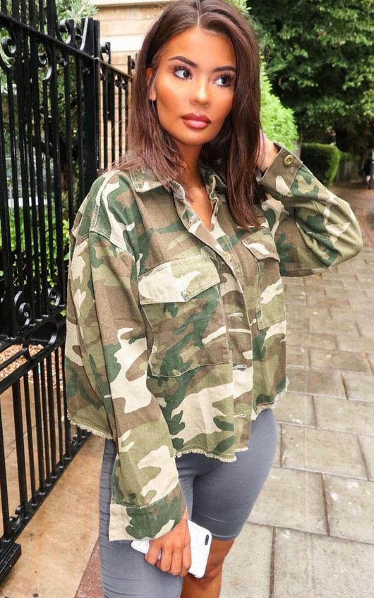 d06ab9befd Serena Camo Denim Jacket in Camo