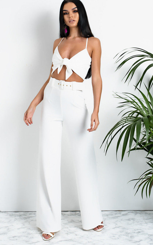 c213e5b03afb HOVER ITEM TO ZOOM. Tabby High Waist Belted Wide Leg Trousers Thumbnail
