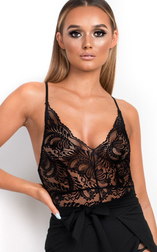 Tilda Lace Bodysuit in Black  47123b948