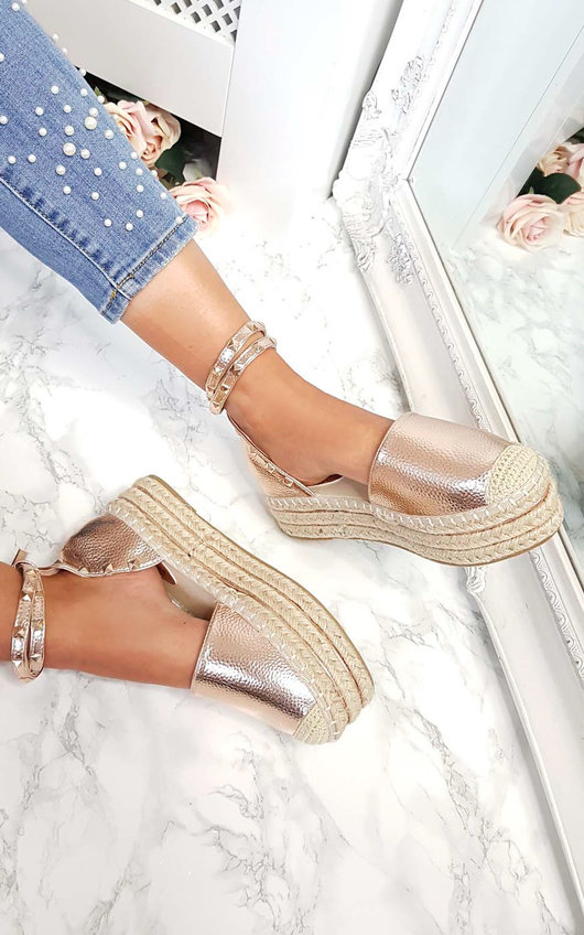 4a6b0eb92f3 Tilly Studded Espadrille Wedge Sandal