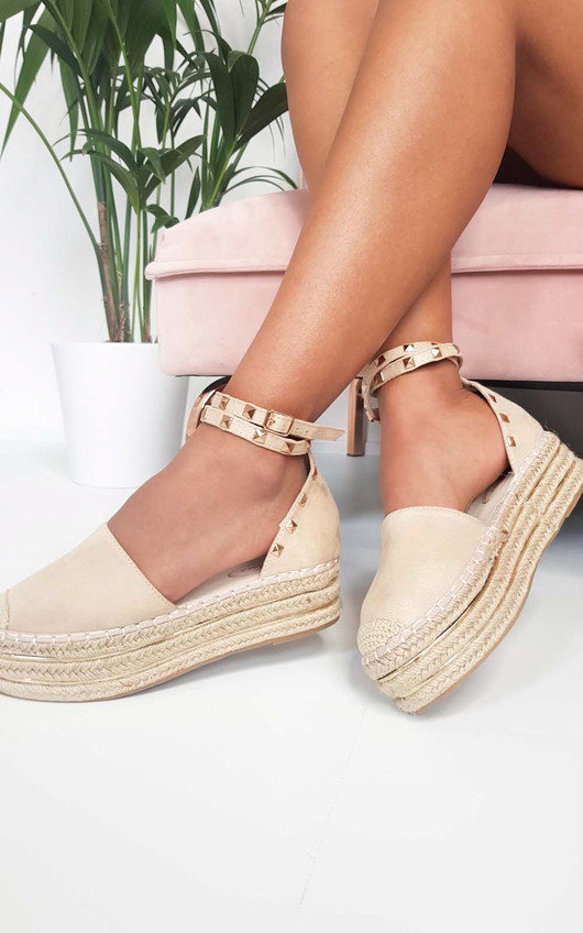 696b957a54f Tilly Studded Espadrille Wedge Sandal at ikrush
