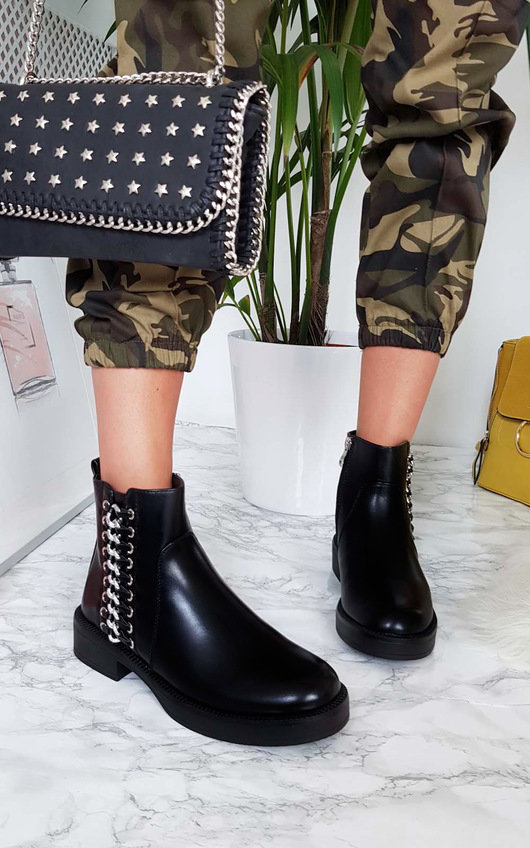 c5659d0a673 Tina Chain Ankle Boots at ikrush