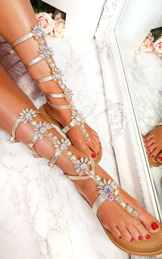 39289a2ace73b6 Willow Embellished Gladiator Sandals Thumbnail
