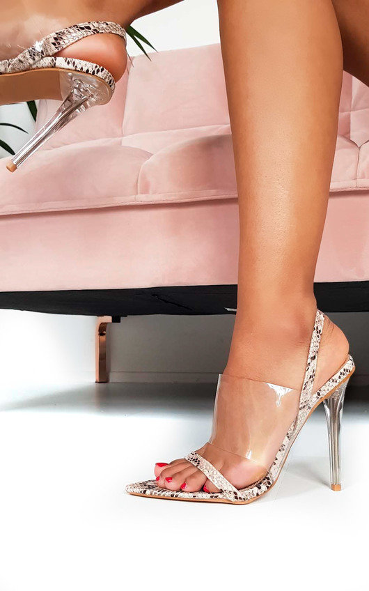 52d56da43ee Zoe Barely There Perspex Strappy Heels at ikrush