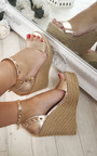Oliviah Stud Strappy Wedge Sandals Thumbnail