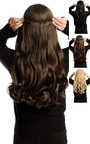 Intense Volume Clip In Hair Extensions - Curly Jet Black  Thumbnail