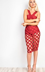 Rose Cut Out Bandage Bodycon Dress Thumbnail