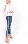 Hayley Striped Stretch Skinny Jeans Thumbnail