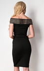 Ivette Stripe Detail Midi Dress Thumbnail