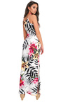 Brianna Floral Slit Side Maxi Dress Thumbnail