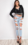 Laetita Lace Up Cropped Jumper Thumbnail