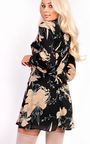 Amy High Neck Floral Dress Thumbnail