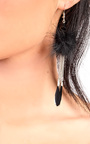 Pia Pom Pom Feather Earrings Thumbnail