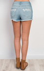 Pacey Embroidered Denim Shorts Thumbnail