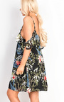 Ellie Floral Strappy Shift Dress Thumbnail
