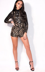 Haley High Neck Sequin Playsuit Thumbnail