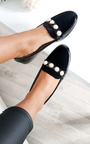 Sadie Velvet Embellished Studded Pumps Thumbnail