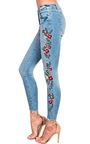 Emrata Embroidered Skinny Jeans Thumbnail